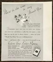 1939 Eaton Fine Letter Papers Pittsfield MA Print Ad Time to Say Thank You Bride