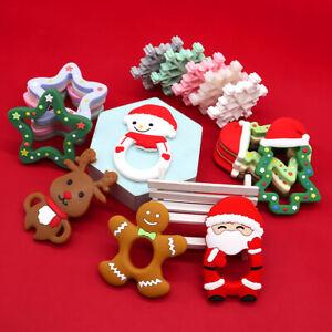 Baby Teething Toys Silicone Teether Ring Newborn Christmas Shower Xmas Gift AU