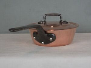 2.4mm Bourgeat Nickel-Lined Copper Splayed Windsor Pan w/ Lid - French, Heavy