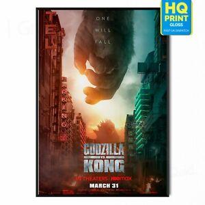 Godzilla vs. Kong Movie Adam Wingard 2021 Poster Print   A5 A4 A3 A2 A1  