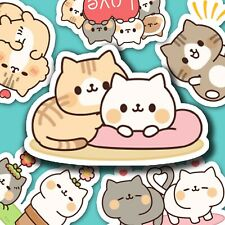40 Cute Kitten Friends Kawaii Stickers Journal, Diary Stickers, Scrapbooking