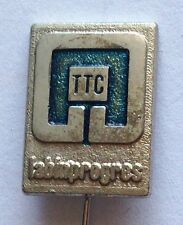 TTC Lab In Progress Pin Badge Rare Advertising Vintage (F6)