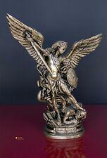 Statua di San Michele Arcangelo, effetto Bronzato 40cm