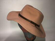 Goorin Bros Joelle Peach Rose Anthropologie Wide Brim Fedora Western Hat S New