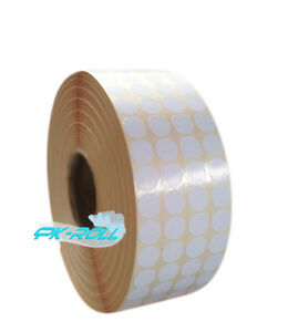 Sticky Round Circle Labels Thermal Transwer  Copier Printer Diameter 25mm 1inch