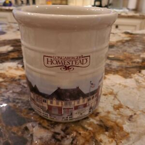 Longaberger Homestead Stoneware Crock (2qt). Made In USA. Excellent condition.