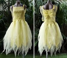 Fairy Dress Party Costume with Wings – WOMEN'S ONE SIZE - Lemon