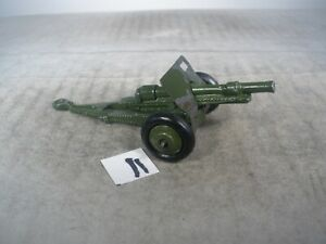 Dinky Toys Military Army 18 POUNDER GUN #162C WITH SHIELD