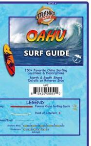 Oahu Surf Guide Hawaii Surfing Map Waterproof Surfing Guide by Franko Maps