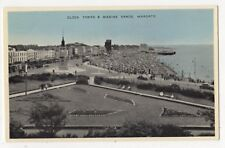 Clock Tower & Marine Sands Margate Kent Vintage Photoblue Postcard 857b
