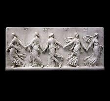 "Greek Bacchants Dancing Frieze relief sculpture 37"" Museum Replica Reproduction"