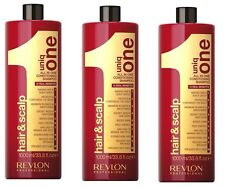 Revlon Uniq One Original Conditioning Hair & Scalp Shampoo 1000ml pack of 3