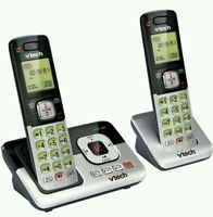 VTech 2 Handset Cordless Phone DECT 6.0 - Digital Answering Machine (CS6829-2) ™