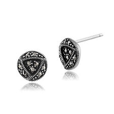 argento sterling 0.2ct marcasite RENNIE MACKINTOSH Orecchini a lobo