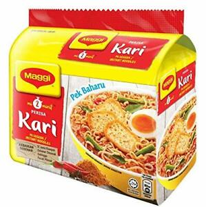 Maggi Nestle Malaysia 2 Minute Instant Curry Flavour Masala Noodles 5 Packs 79g