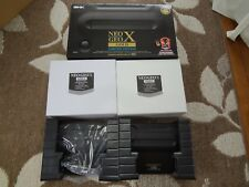 SNK Playmore Neo Geo X Gold Limited Edition NeoGeoX Dock Station 2 set boxed