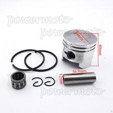 44mm Piston 12mm Pin For 2 Stroke 49cc Pocket Bike Mini Moto ATV Quad 4 Wheeler