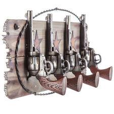 Four Pistols Western Coat Rack Hook (Farm House Ranch Home Decor)  NO SALES TAX!