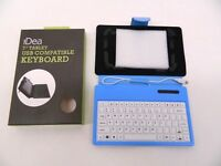 """WDK002BL iDeaUSA Keyboard/Cover Case for 7"""" Tablet - Blue - Leatherette"""