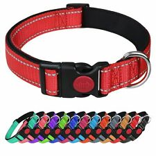 More details for dog collar puppy adjustable nylon durable collars 3 colours 4 sizes uk sellernew