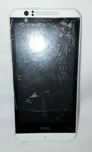 HTC Desire 16GB Android Metro PCS Locked White Parts Only Cracked Screen
