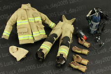 Enterbay Fireman Firefighter Suit & Mask & Oxygen Tank & Hood & Gloved hands 1/6