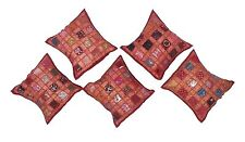 Exclusive 5 PCs Zari Patchwork Cotton Pillow Case Sofa Cushion Cover