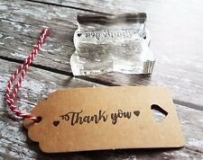 Thank You Rubber Stamp / DIY Wedding Favours/ Gift Tags / Craft