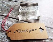 Gracias Sello De Goma/hágalo usted mismo regalo de bodas favores/Etiquetas/Craft