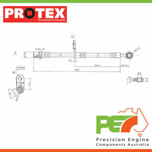 New *PROTEX* Hydraulic Hose - Rear For,. SUBARU IMPREZA G3 4D H/B AWDナ..
