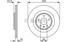 BOSCH Disco de freno (x2) 320mm ventilado RENAULT CLIO SC?NIC 0 986 479 552