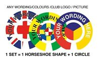 """6 SETS PERSONALISED BOWLS STICKERS ANY TEXT 1"""" LAWN FLATGREEN & INDOOR BOWLS"""