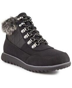 Karen Scott Women Faux Fur Lined Ankle Booties Wanona Size US 11M Black