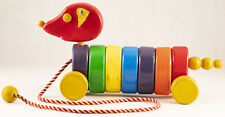 Vintage Playskool Wobbly Pull Pup 1950's Toy Wooden