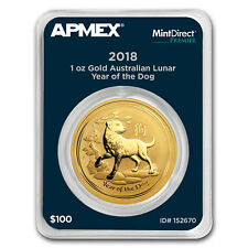 2018 1 oz Gold Lunar Year of the Dog (MintDirect® Premier)