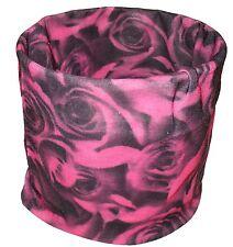 Fusha Black Rose Roses Balaclava Face Mask Magic Scarf Multi Function Headwear