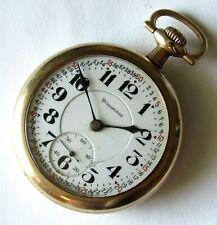 Illinois Burlington Pocket Watch 16 size 19 jewels Gold filled case RUNS