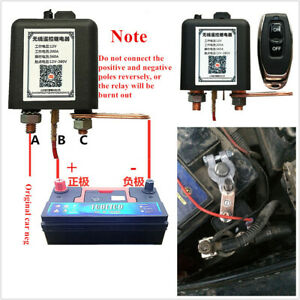 Car Battery Isolator Cut Off Kill Power System Wireless Remote Control Switch