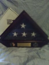 wood frame display case Us American 8 star fold flag Army National Guard Soldier