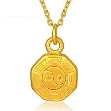 Pure 999 24k Yellow Gold Pendant /3D Women&Men  Tai Chi Bagua Pendant / 1.2g