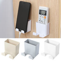 Wall Mounted Storage Case Remote Control MobilePhone Plug Holder Stand Container