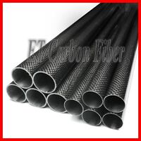 3K Carbon Fiber Tube 10MM x 8MM x 1200MM Carbon Rod Roll Wrapped 10mm DIY Pipe