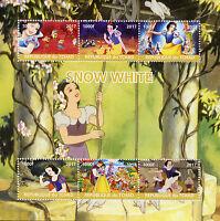 Chad 2017 MNH Snow White 6v M/S Disney Cartoons Stamps