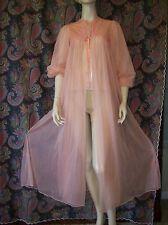Vintage Gossard Artemis Orange Sheer Double Chiffon Nylon Robe Lingerie