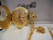 Watch With Chain New Reduced Colibri Gold Face Goldtone Pocket