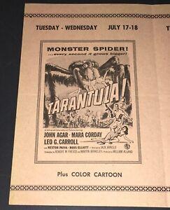 """TARANTULA (1955) ORIG. DRIVE-IN 4-PG HANDBILL - 6.5 x 8"""" - PAT PATTERSON COA!"""