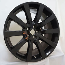 "19"" Jaguar XK Carelia OEM Wheel Rim Gloss Black 59816 Rear 9.5 6W831007RA"