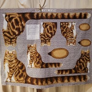 Tell Tail Cats Draught Excluder Door Stop Fabric Panel Draft Rose Hubble Craft