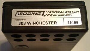 39155 REDDING NATIONAL MATCH DIE SET - 308 WINCHESTER - BRAND NEW - FREE SHIP!
