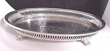 """14"""" Vintage Silverplate Footed Oval Centerpiece by Kent Silversmith Floral"""